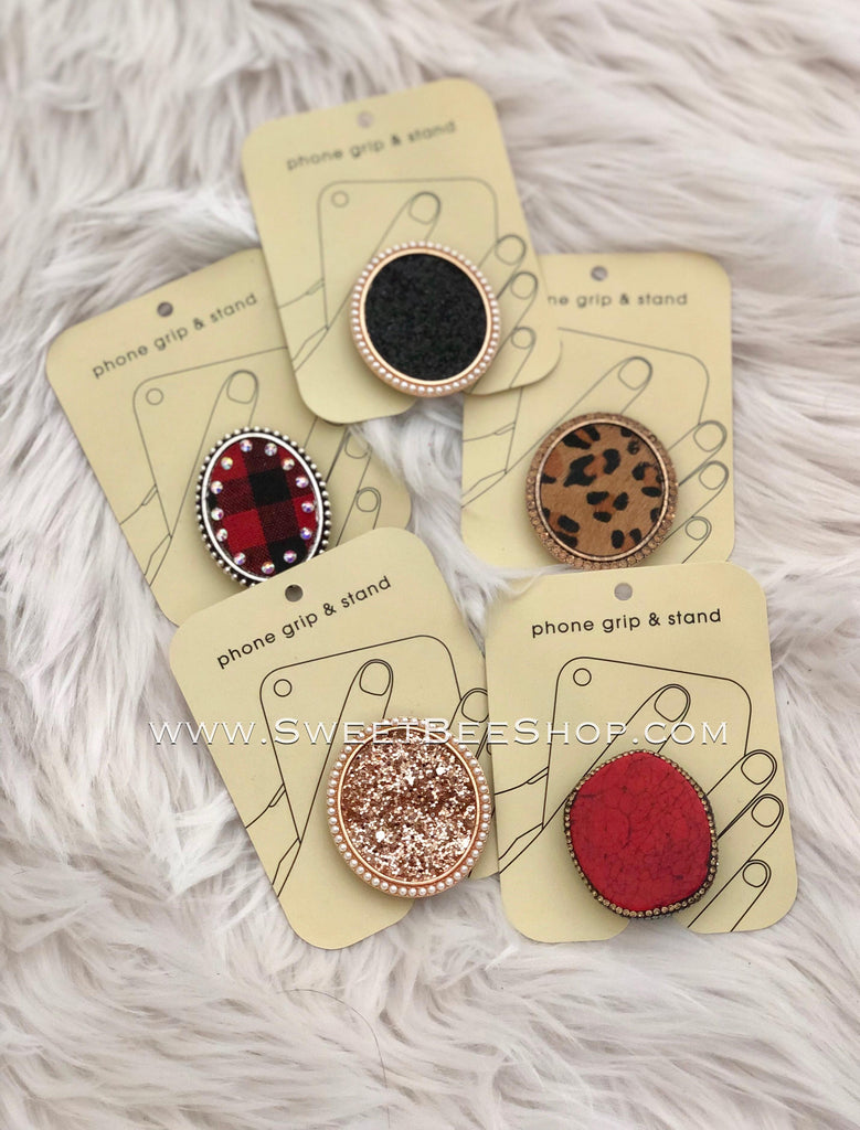 New Style Rhinestone Glitter Phone Grips, Hats & More - Sweet Bee Boutique