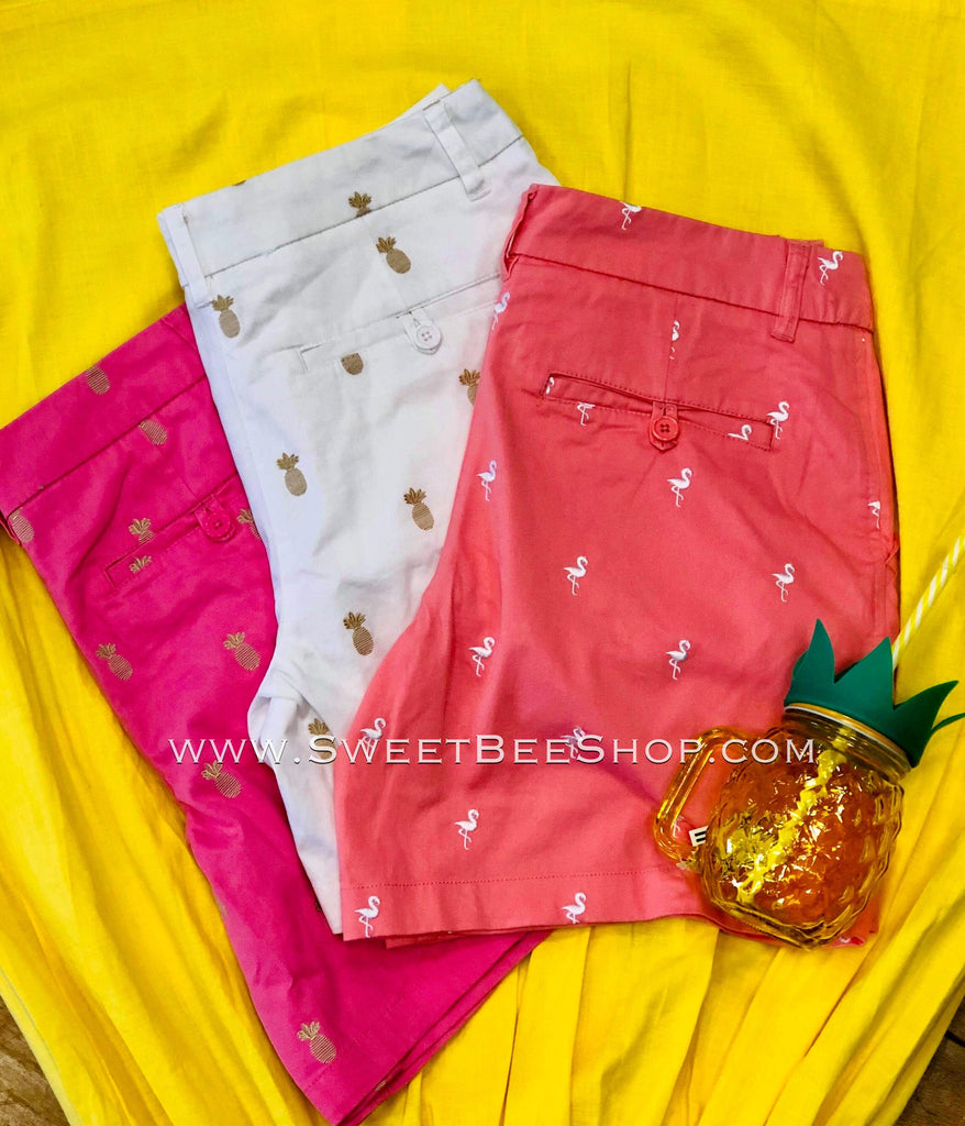 Pineapple Golf Shorts, Bottoms - Sweet Bee Boutique
