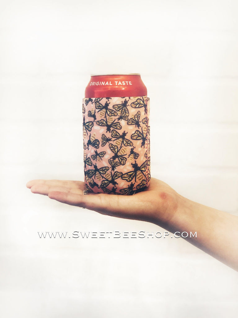 RESTOCK - 12 OZ CAN HANDLERS WITH POCKETS, Lit Koozies - Sweet Bee Boutique