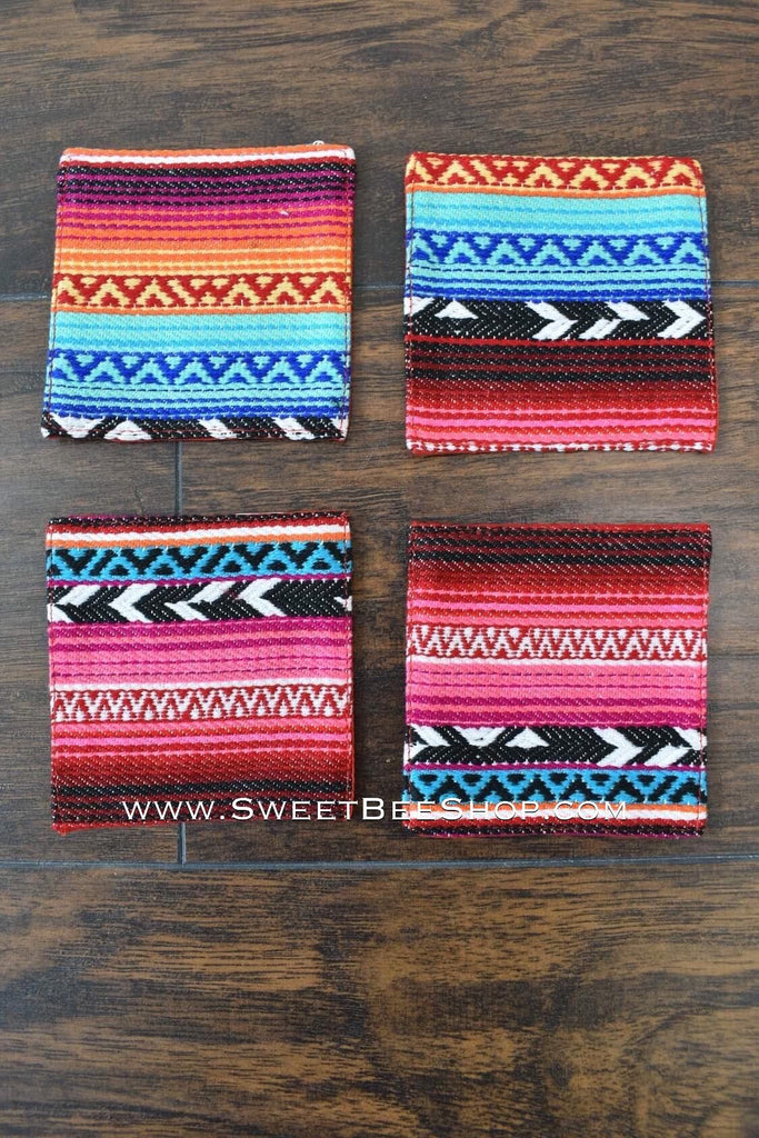 Serape Printed Coasters Set Of 4, Bags & Purses - Sweet Bee Boutique