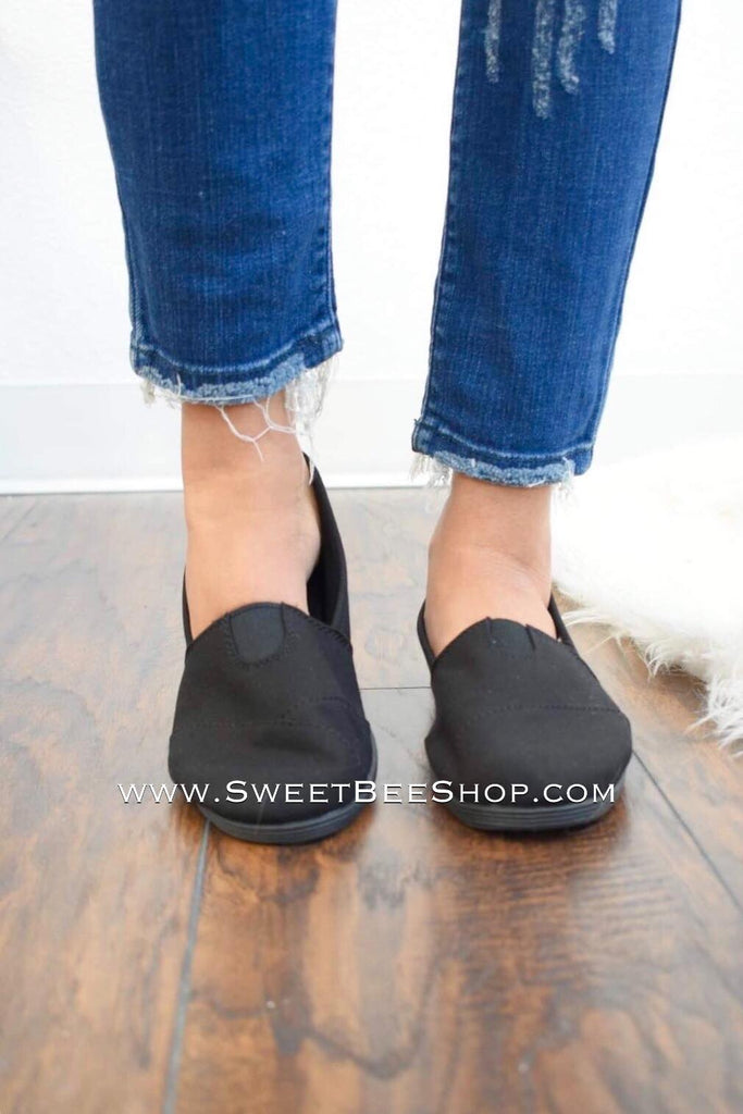 Brooklyn All Black Slip On Shoes