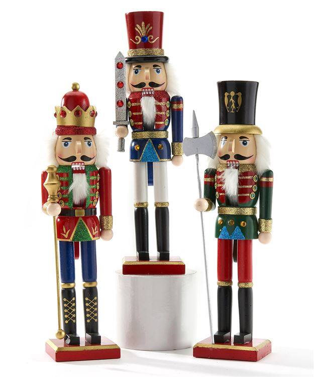 Beautiful Wooden Nutcrackers, Decor - Sweet Bee Boutique