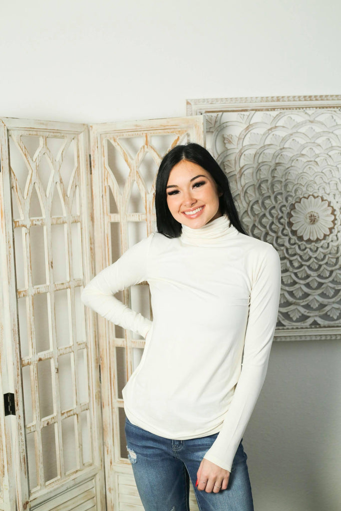 Starstruck By Love Beige Buttery Soft Turtleneck Top