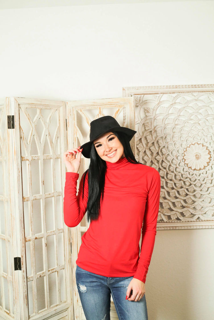 Starstruck By Love Red Buttery Soft Turtleneck Top