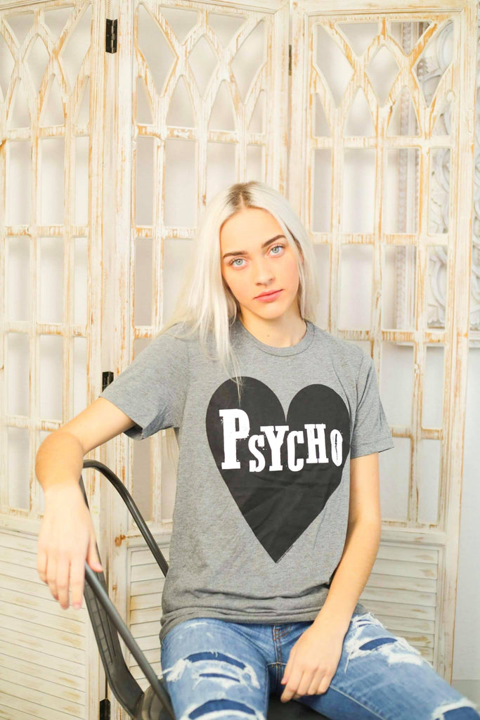 Psycho Grey Short Sleeve Bella Canvas Tee