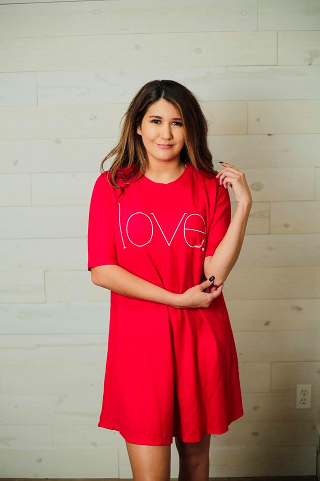 Scarlett Red Love Dress