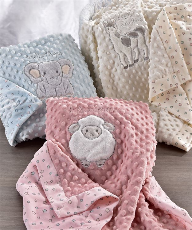 Lil' Llama Double Sided Blanket | Reversible Baby Blanket, Kids - Sweet Bee Boutique