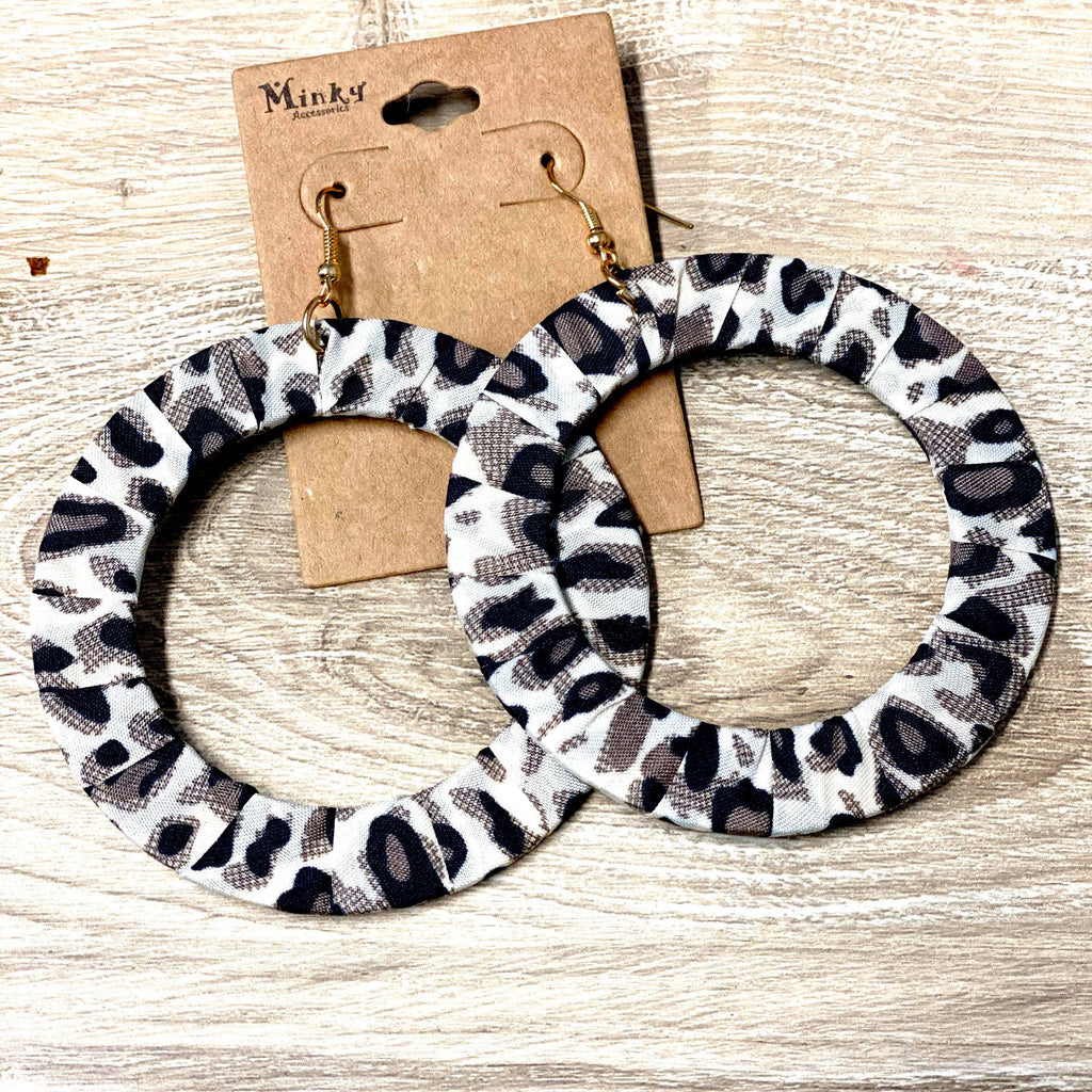Leopard 3in Hoop Earrings
