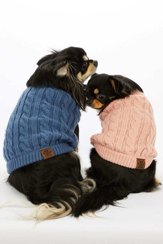 Black C.C. Brand Solid Knitted Dog puppy Sweater