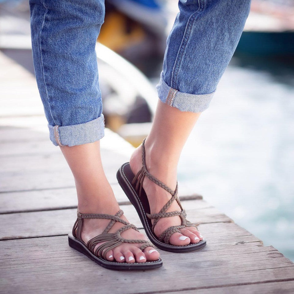 Plaka Oceanside Taupe Sandals