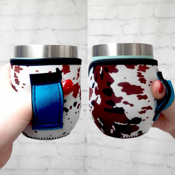 12 OZ Wine Tumbler Handler With Pocket