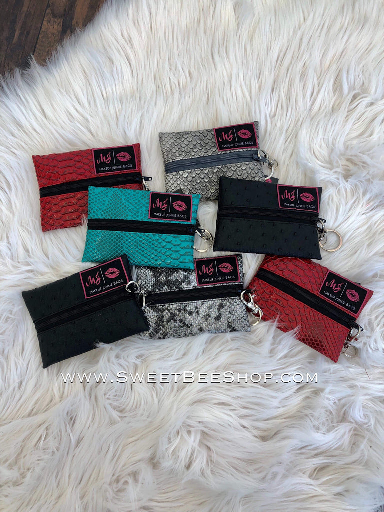 Makeup Junkie Micro Textured Bags-Bags & Purses-Sweet Bee Boutique