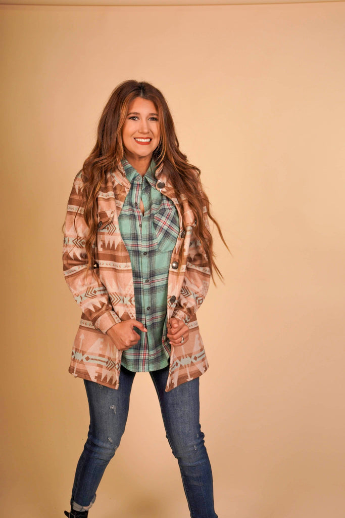 Western Skies Soft Button Down Jacket