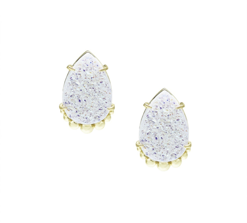 Natalie Wood She's A Gem Teardrop Stud Earrings