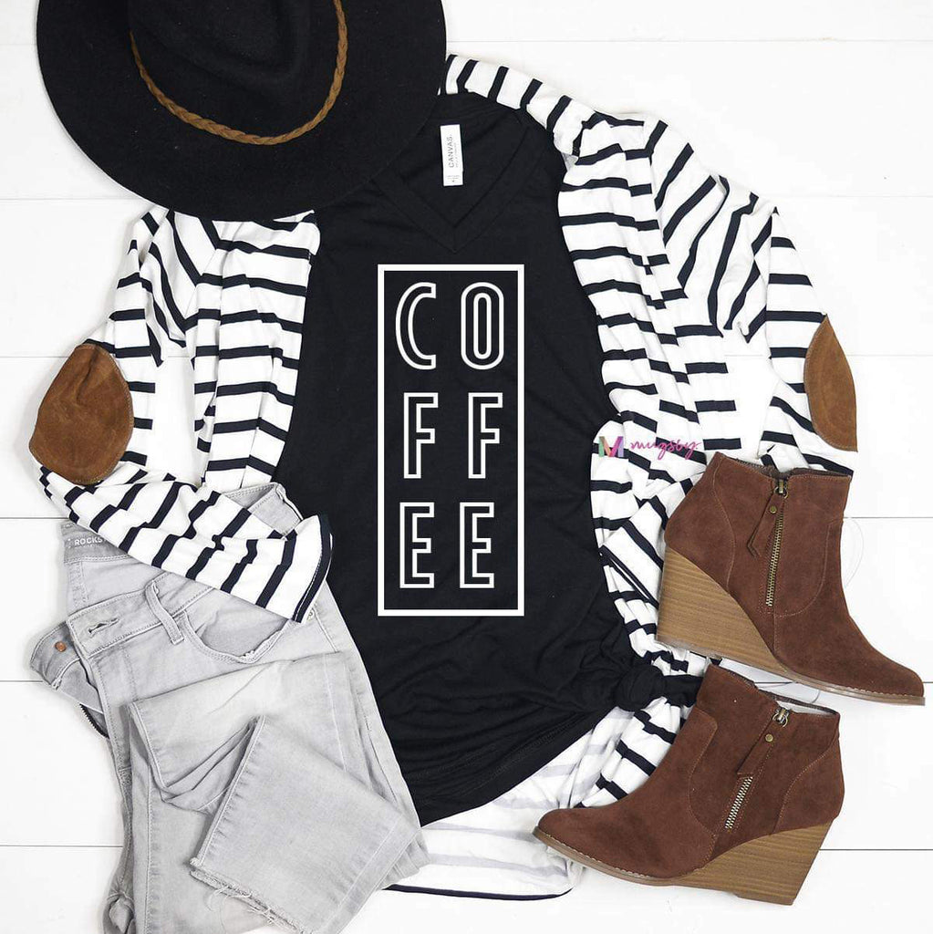 Coffee Black Bella Canvas Shirt