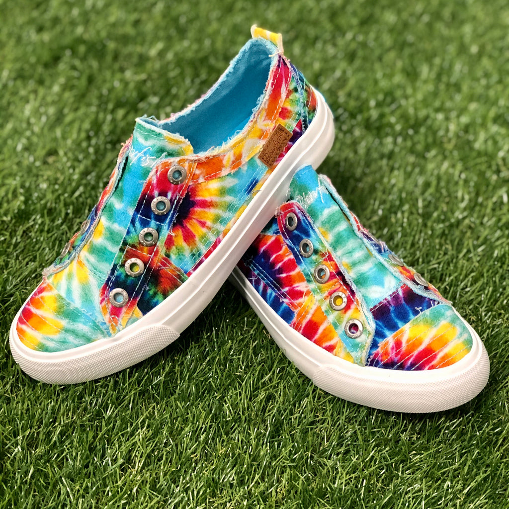 Rainbow Tie Dye Blowfish Sneakers