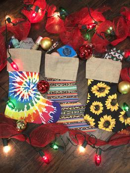 Stock That Stocking | Sunflowers, Leopard Serape, Tie Dye