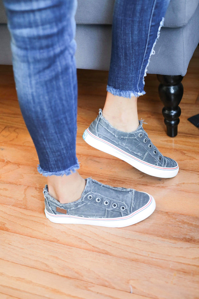 Blowfish Grey Hipster Slip-on Comfort Shoes