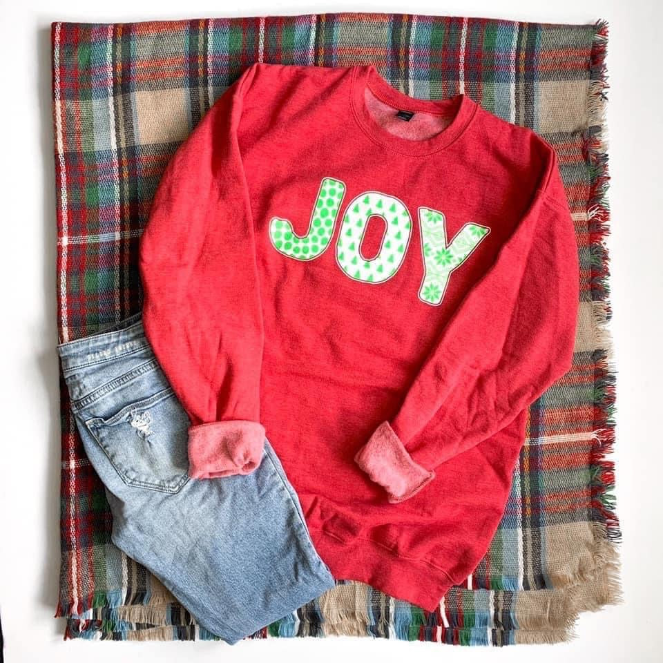 Joy Red Holiday Tultex Sweatshirt