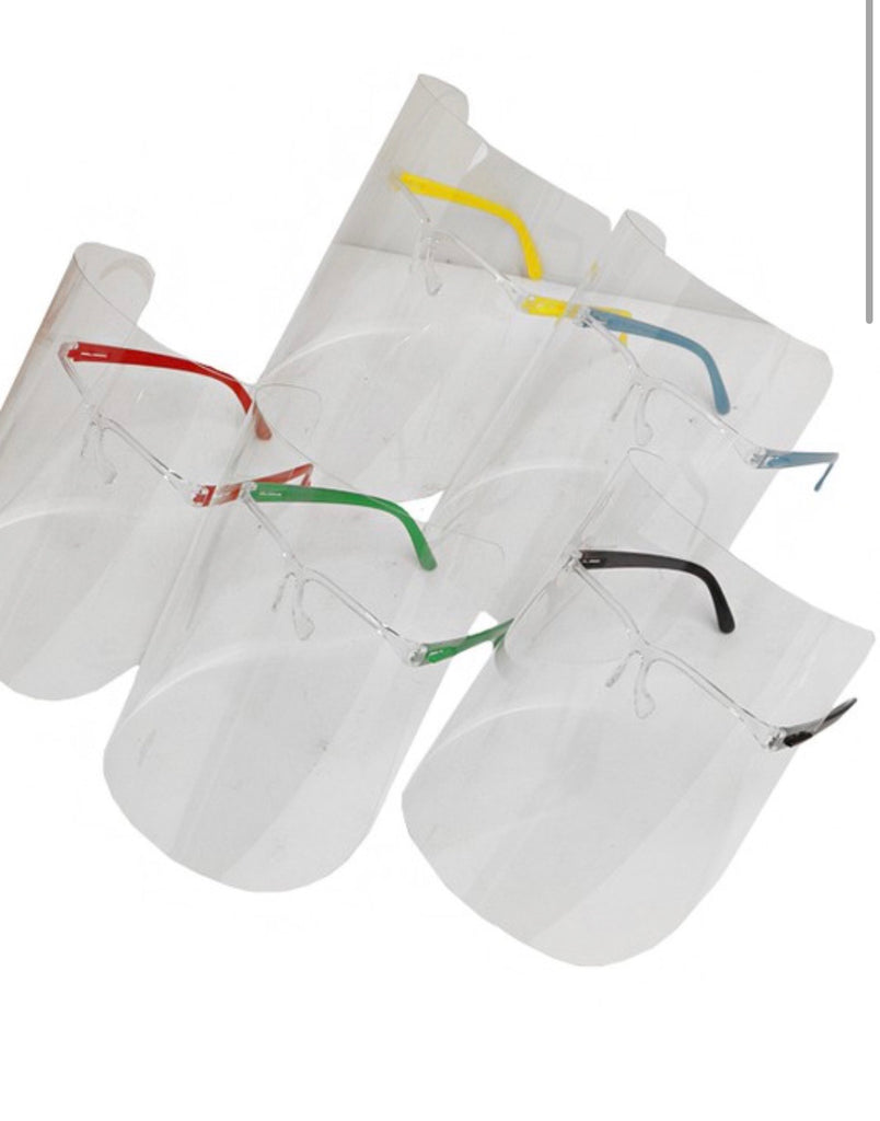Face Shield With Frame Various Colors