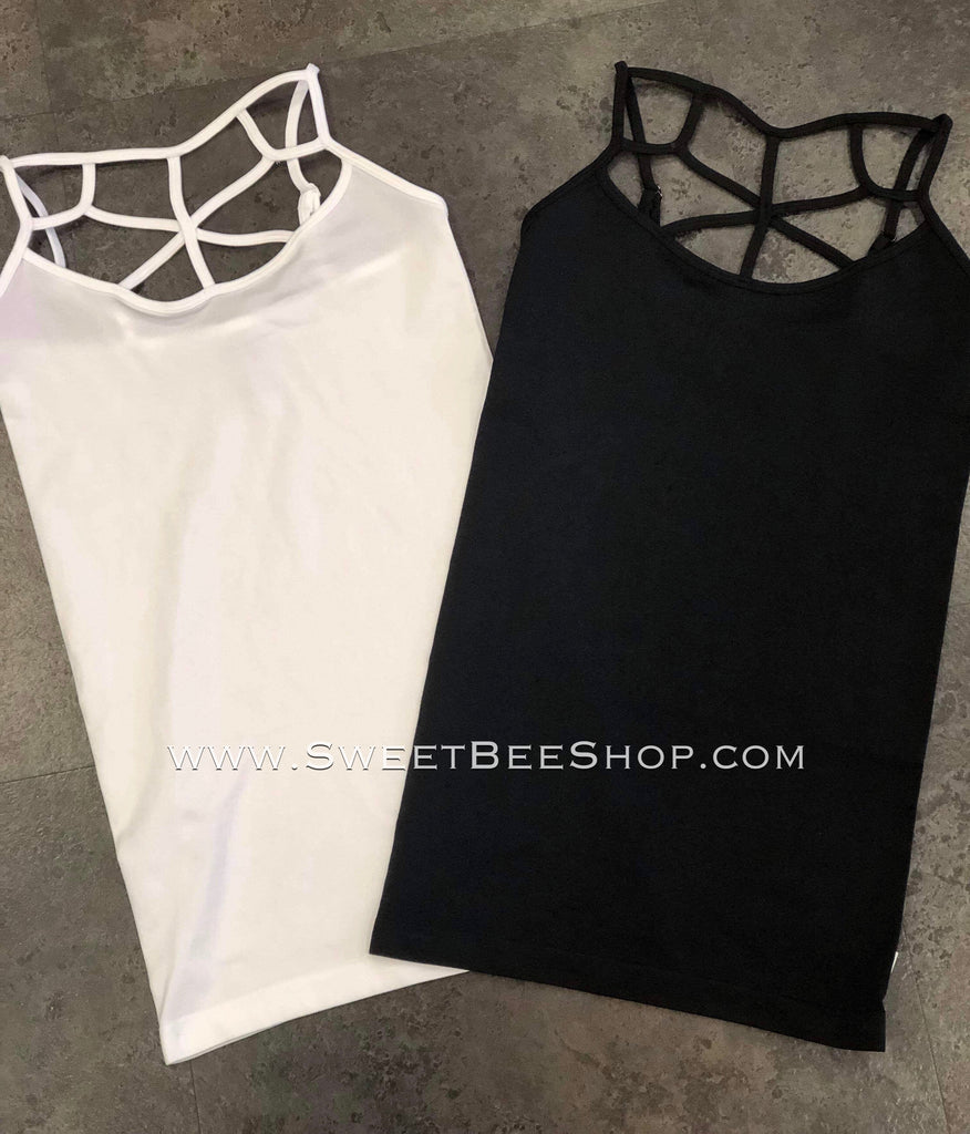 Curvy Girl Size Seamless Criss Cross Cami-TOPS-Sweet Bee Boutique