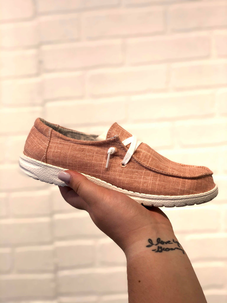 Blush Slip On Sneakers