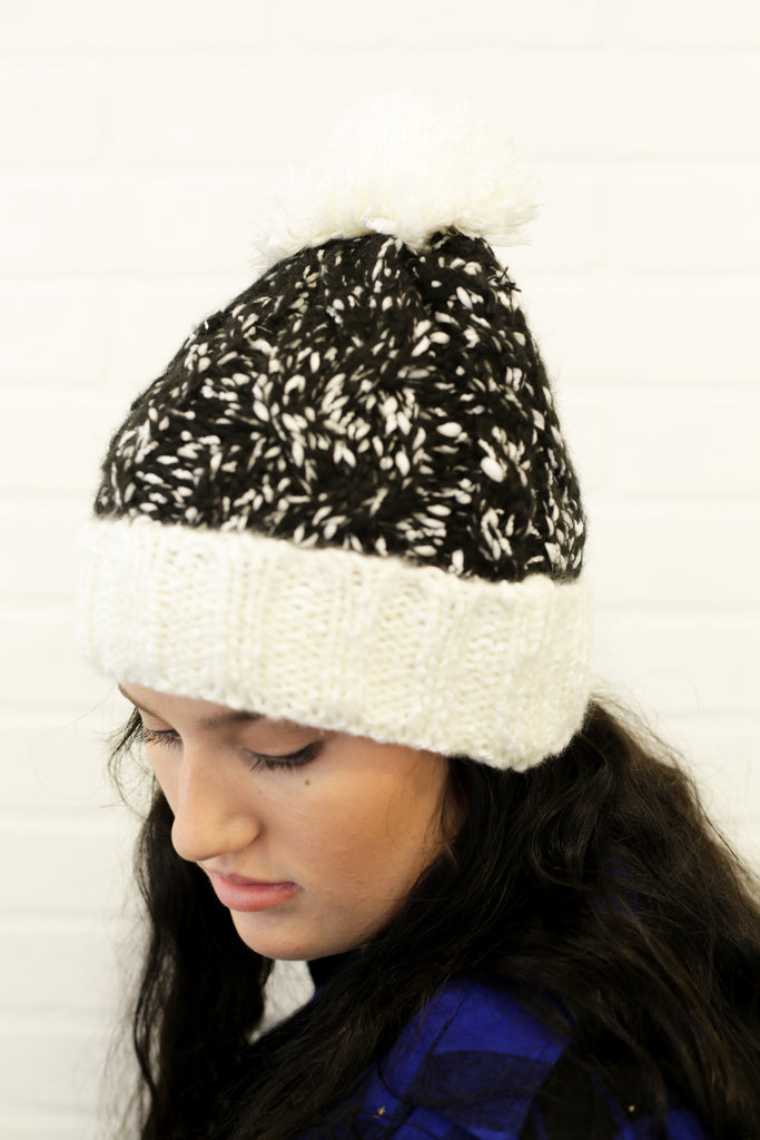 Crochet Pompom Beanies in Various Colors
