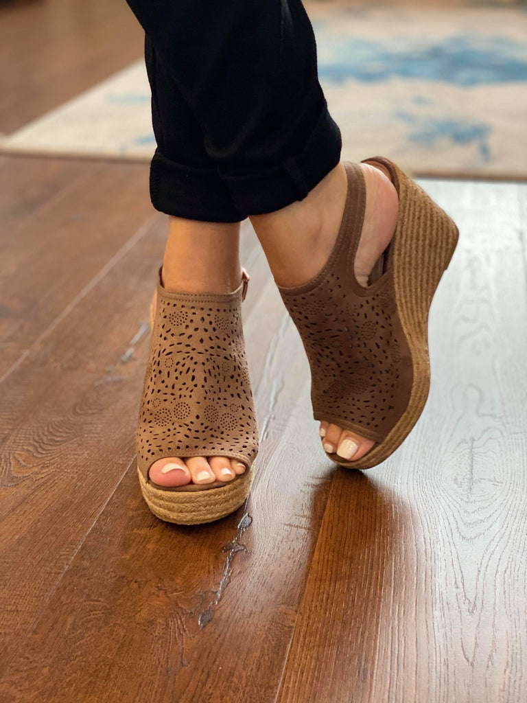 Alexis Mocha Straw Bottom Espadrilles