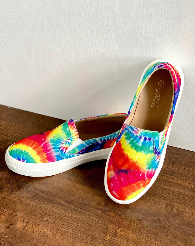 Comfy Tie Dye Slip On Shoes