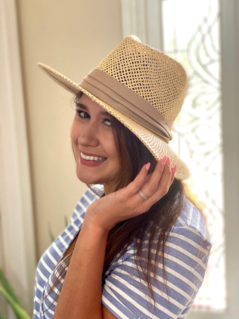 Straw Black Band Summer Hat