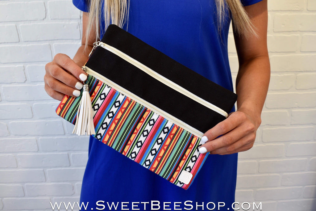 Weekend In Santa Fe Double Zipper Versi Bag, Bags & Purses - Sweet Bee Boutique
