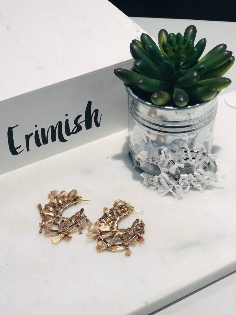 Erimish Hoop Earrings-jewerly-Sweet Bee Boutique