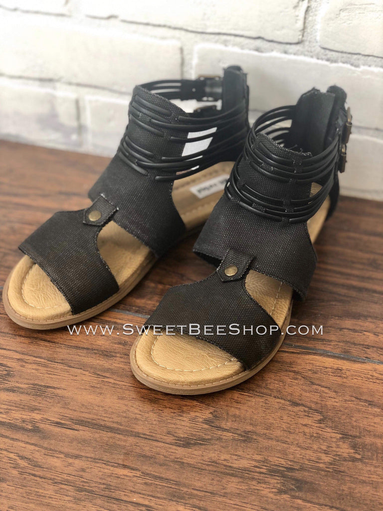 BLACK ELEONORA NOT RATED SANDAL-Shoes-Sweet Bee Boutique