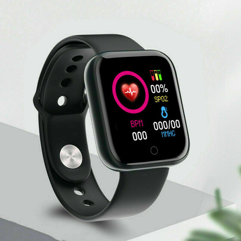 Black Bluetooth Smart Watch Health & Fitness Tracker