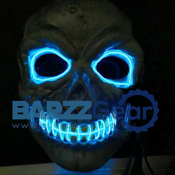 Novelties LED Mask Skull Skeleton Fancy Scary Halloween Costume Neon Rave 2016