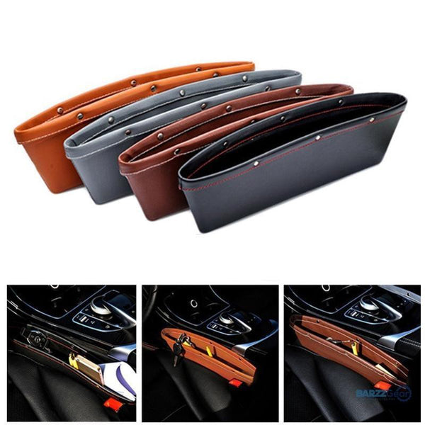 Leather Car Seat Storage Organizer 4 Color