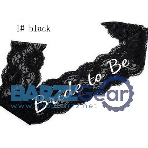 """BRIDE TO BE"" Lace Sash for Bachelorette Hen Party Black or White"