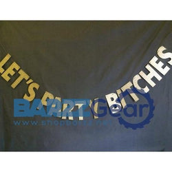 """LET'S PARTY.."" Sparkly Glitter Gold Banner Birthday Bachelorette Party Supply"