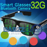 Fashion Outdoor Sport Smart Glasses Wireless Bluetooth Headset Sunglasses with Camera 5MP HD 720P 8GB or 32GB Car DVR Camcorder