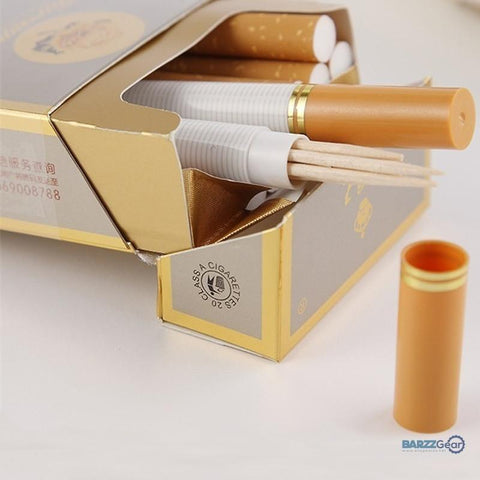 New 2x Cigarette Shaped Toothpick Case Box Secret Stash Diversion Pill Box Toothpick Container Case
