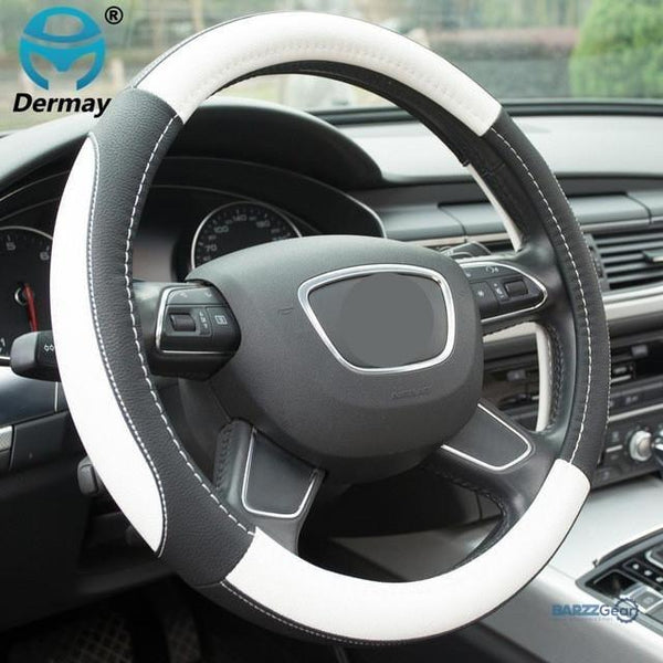 Leather Steering Wheel Cover Sport Style 5 colors