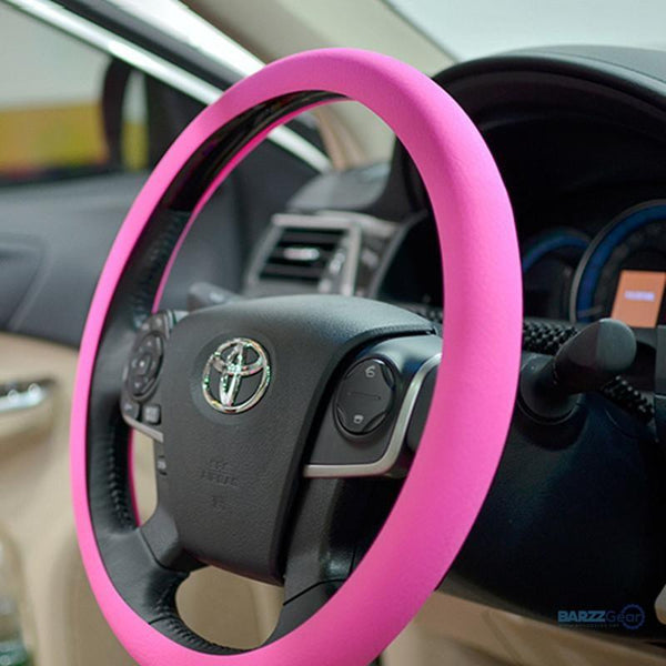 Silicone Car Steering Wheel Cover With Skin Texture