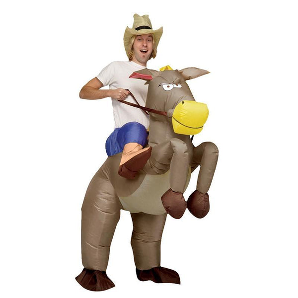 2017 Adult Inflatable Unicorn Cowboy Costumes Ride on Dinosaur Costume Walking Fancy Dress Halloween Costume for Women