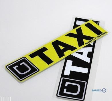 High quality For  UBER taxi  Car  Reflective  sticker and decals   cool modified accessories