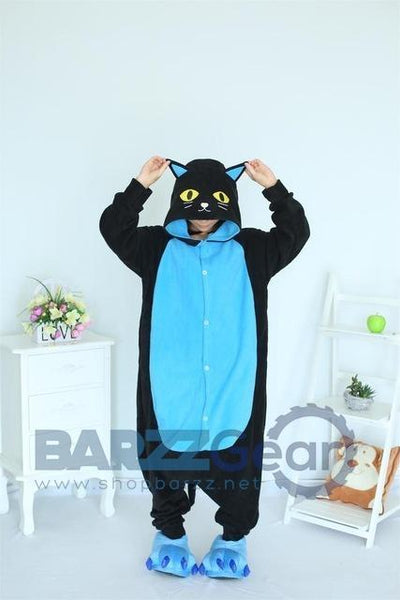 Animal pajamas Cosplay Clothing Sleepwear Romper Adult Kigurum Onesies Animal Midnight Cat Pajamas
