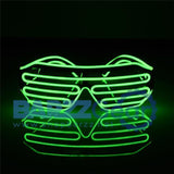 Flashing EL Wire Led Glasses Luminous Party Decorative Lighting Classic Gift Bright Light Festival Gift Glow Rave Costume