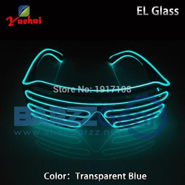 Crazy Hot EL LED Glasses Luminous Colorful Glowing Dance DJ Party Decorative Shutter glasses With 3V Flashing/Steady On Inverter