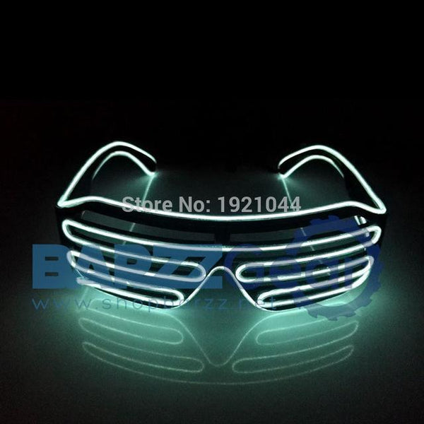 Buy Double Colors Sound Activated EL wire Led Glasses Lighting ...