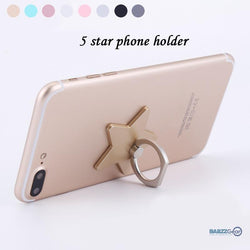 Star Shaped Cell Phone Ring & Kickstand