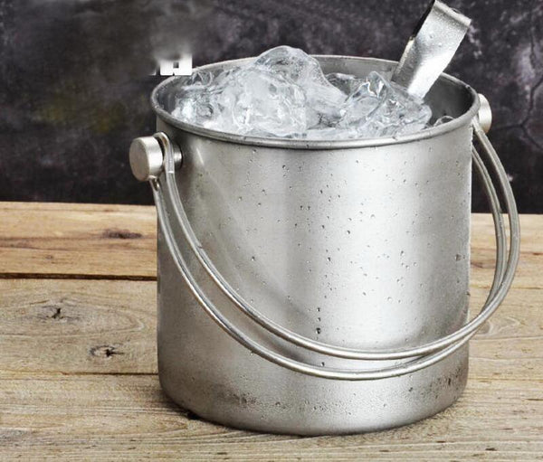 304 Stainless steel Double layer ice bucket quality stainless steel wine ice storage bar buckets 2L